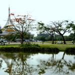 В фокусе Парк Короля Рамы IX в Бангкоке.