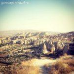 Достопримечательности Каппадокии: деревня Чавушин с потрясающими видами.