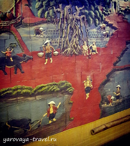 А также картины с вьетнамскими мотивами.