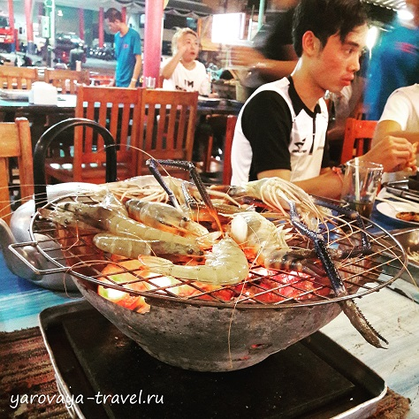 Я обожаю морепродукты на гриле!