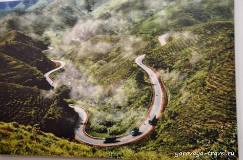 Фото дороги, по которой мы ехали в провинцию Даклак.