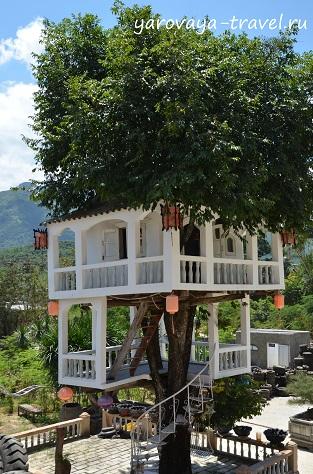 Настоящий дом на дереве.