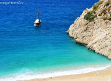 Капуташ – райский пляж в Турции, с водой цвета туркуаз.