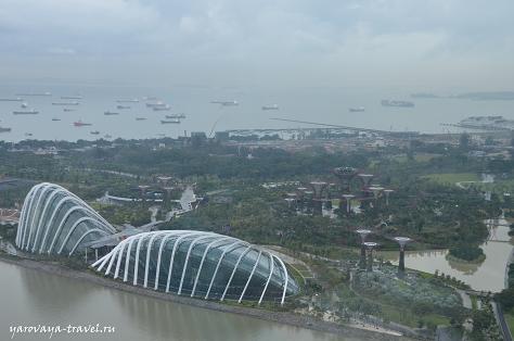 Видно порт Сингапура