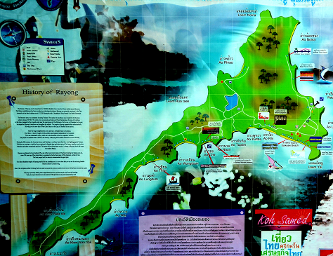 Карта острова Самет.
