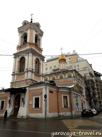 Храм Воскресения Словущего в Брюсовом переулке.