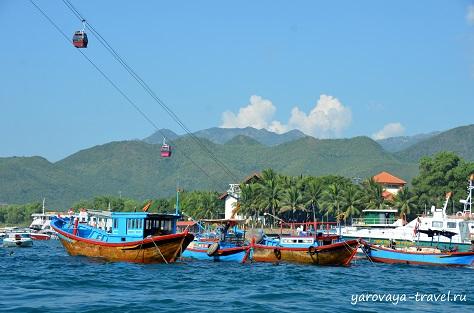 По пути на остров Три Нгуен.