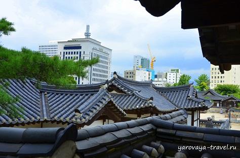 Крыши традиционных домиков.