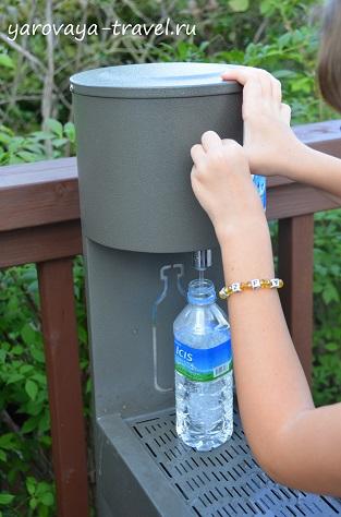 В парке можно набрать питьевой воды.