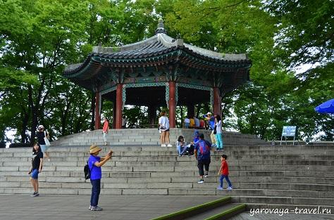 южная корея сеульская башня