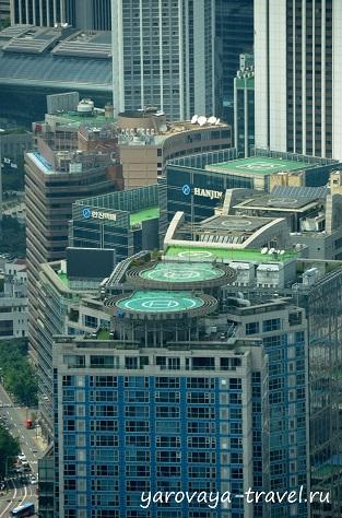 Вертолетные площадки на крышах жилых домов.