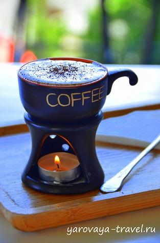 Красивая подача кофе! Но вкус мне не понравился.