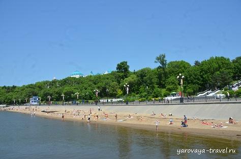 Пляж в Хабаровске.