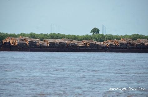 Лесозаготовки на реке.