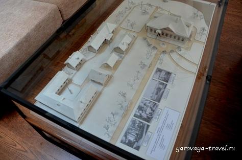 Это макет усадьбы Киселевых.